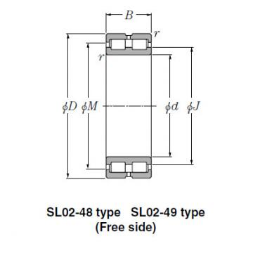 SL Type Cylindrical Roller Bearings NTN SL01-4930