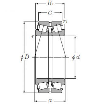 Double Row Tapered Roller Bearings NTN 323128