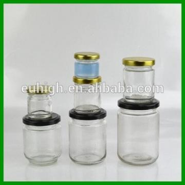 high quality best sell round jam glass bottle with tin plalte cap