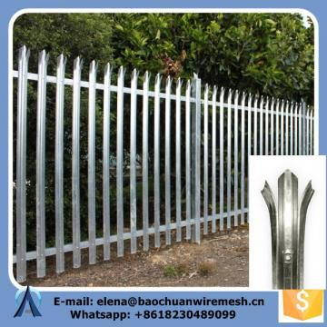 Posts 100 x 44 mm Steel Palisade Fence