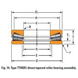 TTHDFL thrust tapered roller bearing T20750