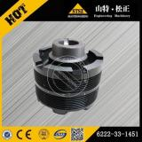 6222-33-1451 excavator engine parts PC300-7 crank pulley 6222-33-1451 excavator genuine spare parts