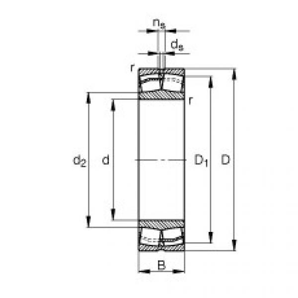 Spherical Roller Bearings 23022-E1-TVPB FAG #1 image