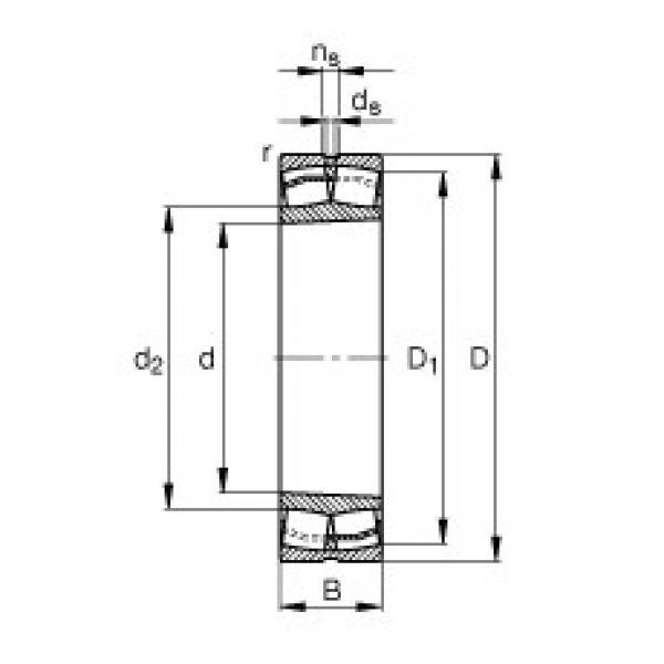 Spherical Roller Bearings 22316-E1-K-T41A FAG #1 image