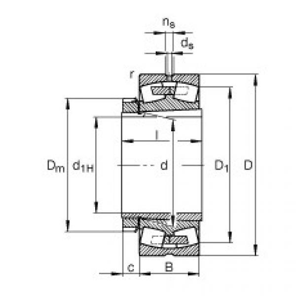 Spherical Roller Bearings 23028-E1A-K-M + H3028 FAG #1 image