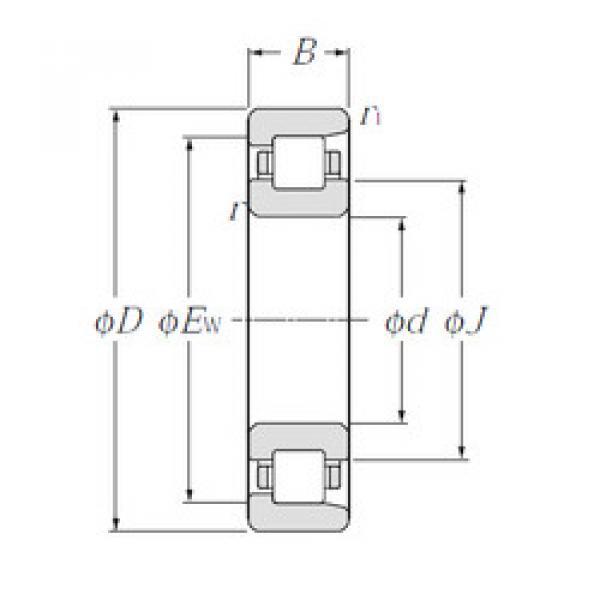 Cylindrical Bearing NF318 NTN #1 image