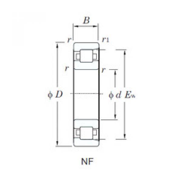 Cylindrical Bearing NF317 KOYO #1 image