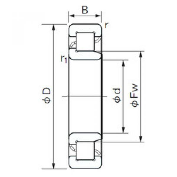 Cylindrical Bearing NJ 2336 NACHI #1 image