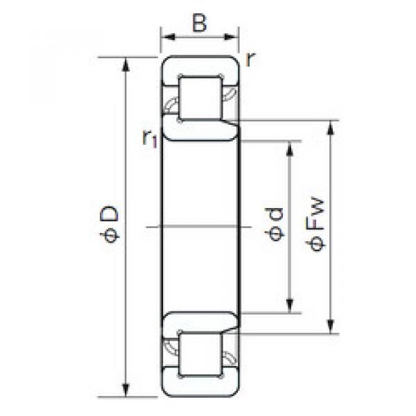 Cylindrical Bearing NJ 317 NACHI #1 image