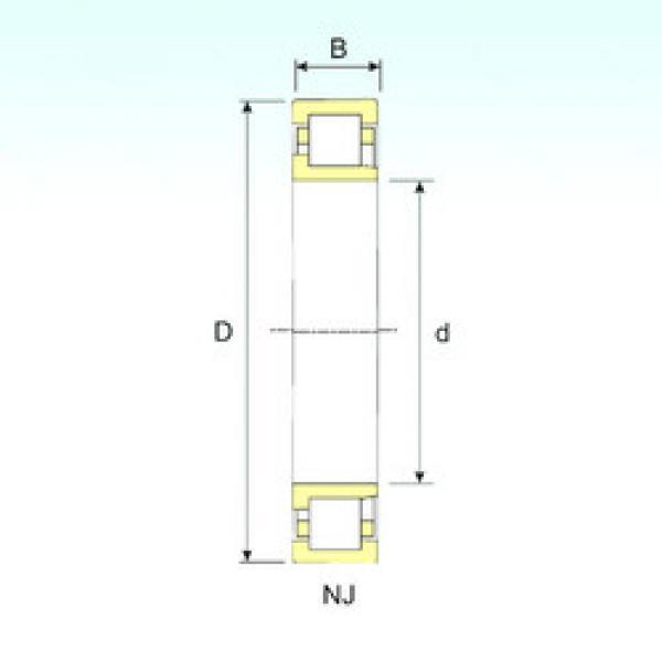 Cylindrical Bearing NJ 324 ISB #1 image