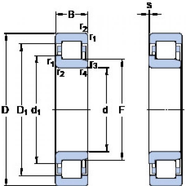 Cylindrical Bearing NJ 219 ECML SKF #1 image