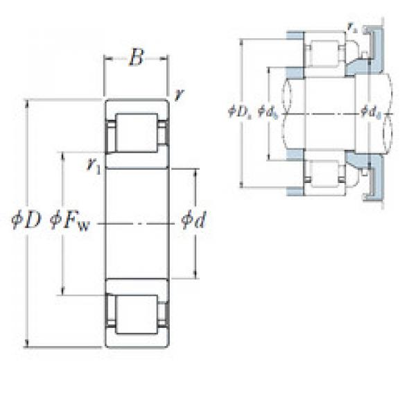 Cylindrical Bearing NJ 308 EW NSK #1 image