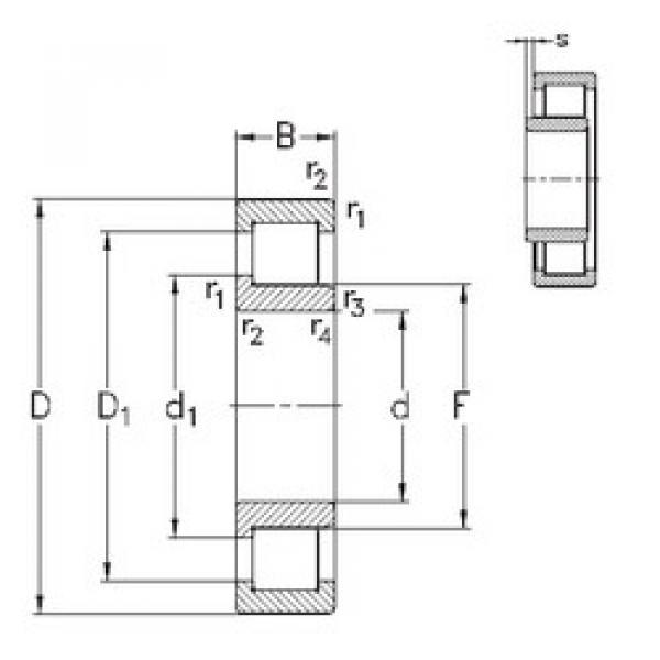 Cylindrical Bearing NJ324-E-MPA NKE #1 image
