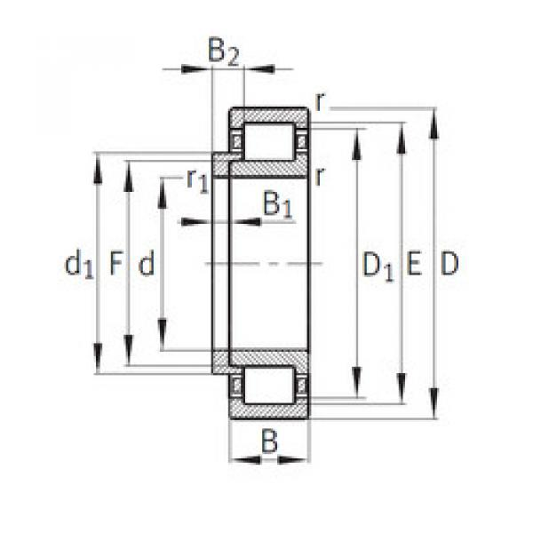 Cylindrical Bearing NJ307+HJ307 CYSD #1 image