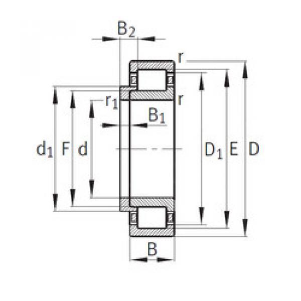 Cylindrical Bearing NJ340-E-M1+HJ340-E FAG #1 image