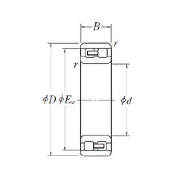 Cylindrical Bearing NN 3008 NSK #1 image