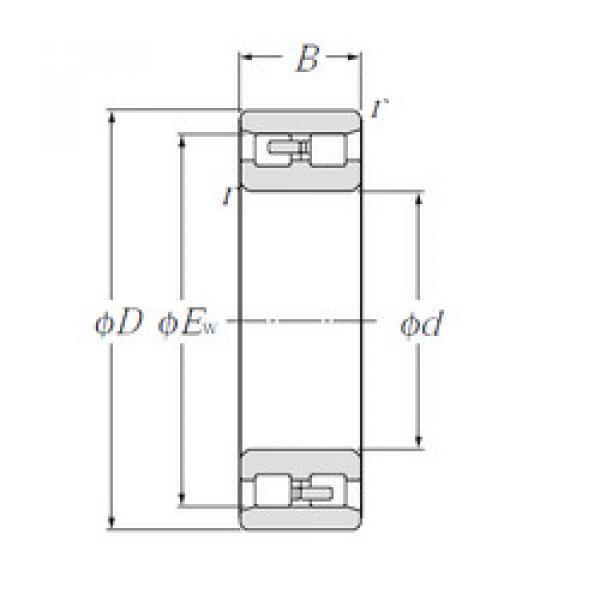 Cylindrical Bearing NN3011 NTN #1 image