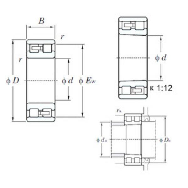 Cylindrical Bearing NN3021 KOYO #1 image