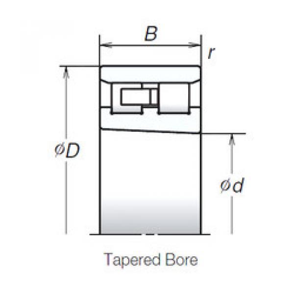 Cylindrical Bearing NN3032MBKR NSK #1 image
