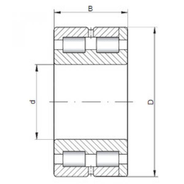 Cylindrical Bearing NNC4968 V ISO #1 image