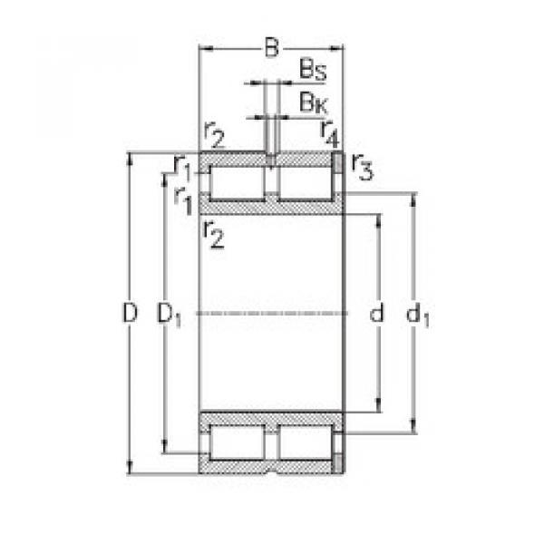Cylindrical Bearing NNC4964-V NKE #1 image