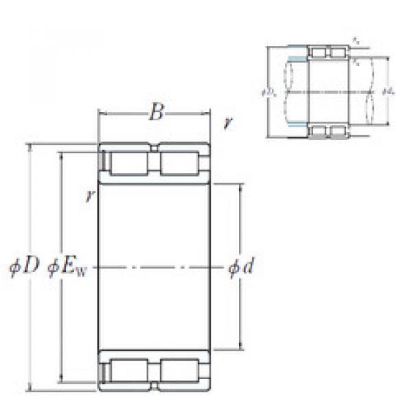 Cylindrical Bearing NNCF4876V NSK #1 image