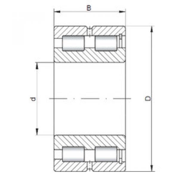 Cylindrical Bearing NNCF5008 V ISO #1 image