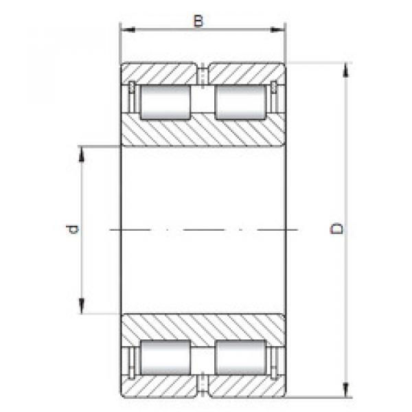 Cylindrical Bearing NNCL4964 V ISO #1 image