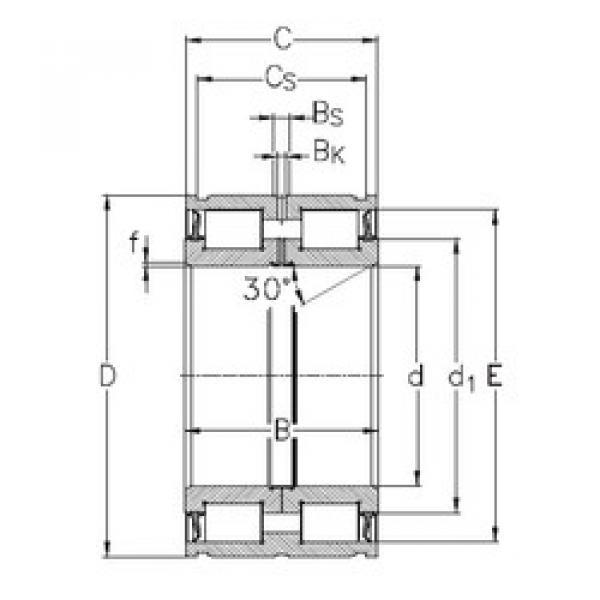Cylindrical Bearing NNF5015-2LS-V NKE #1 image