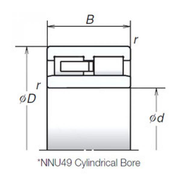 Cylindrical Roller Bearings Distributior NNU4922MB NSK #1 image