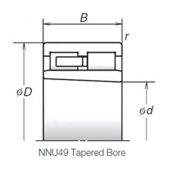 Cylindrical Roller Bearings Distributior NNU4926MBKR NSK #1 image