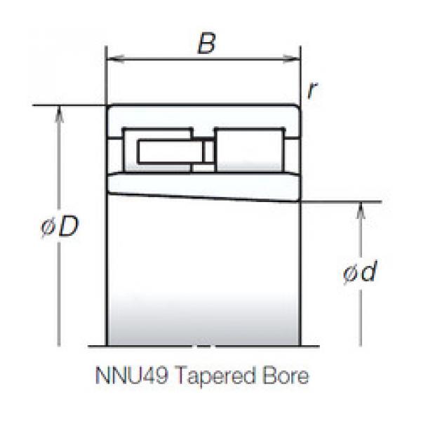 Cylindrical Roller Bearings Distributior NNU4934MBKR NSK #1 image