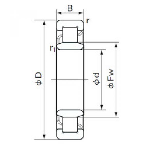 Cylindrical Roller Bearings Distributior NU 2309 E NACHI #1 image
