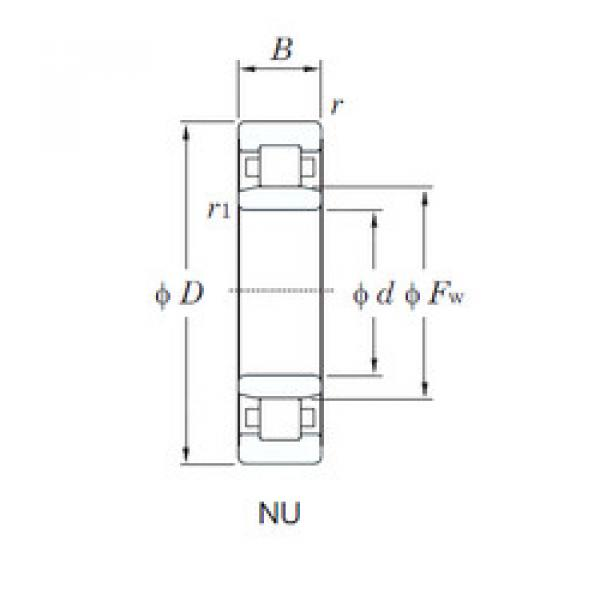 Cylindrical Roller Bearings Distributior NU2312R KOYO #1 image