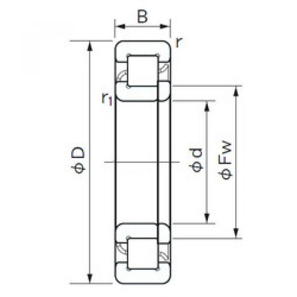 Cylindrical Roller Bearings Distributior NUP 317 NACHI #1 image