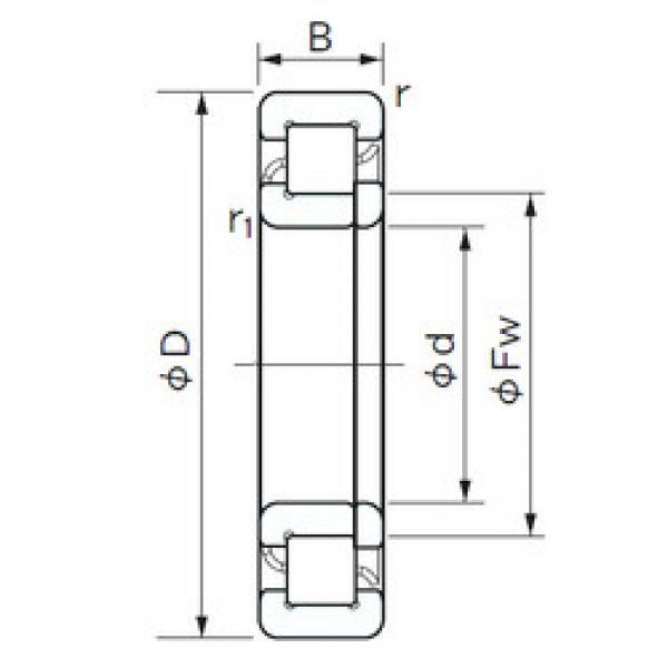 Cylindrical Roller Bearings Distributior NUP 407 NACHI #1 image