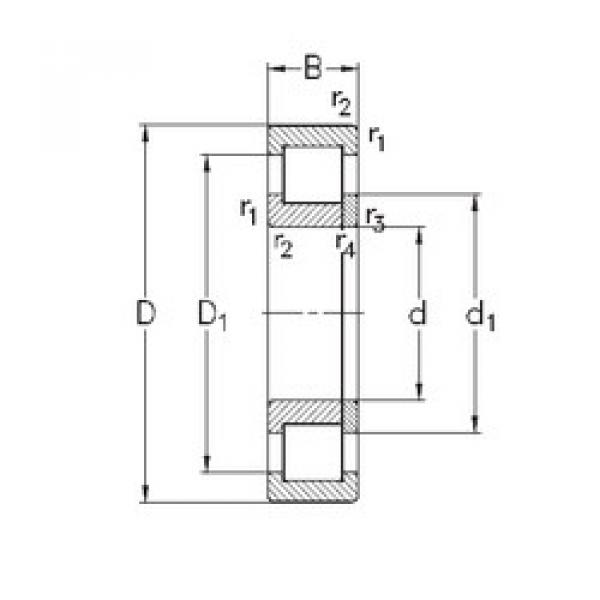 Cylindrical Roller Bearings Distributior NUP2222-E-MA6 NKE #1 image