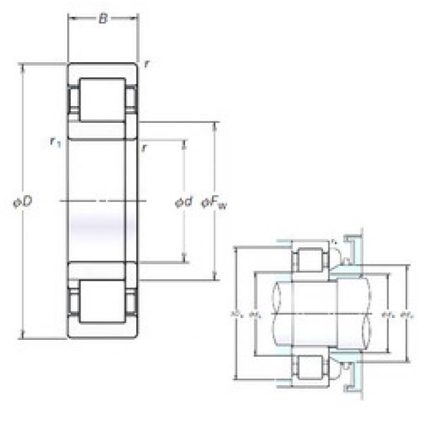 Cylindrical Roller Bearings Distributior NUP2222EM NSK #1 image