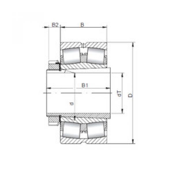 Spherical Roller Bearings 22336 KCW33+H2336 ISO #1 image