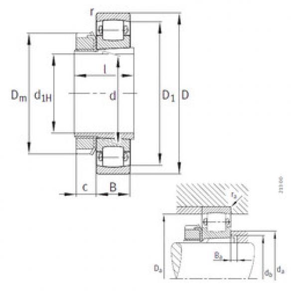 Spherical Roller Bearings 20311-K-TVP-C3+H311 FAG #1 image