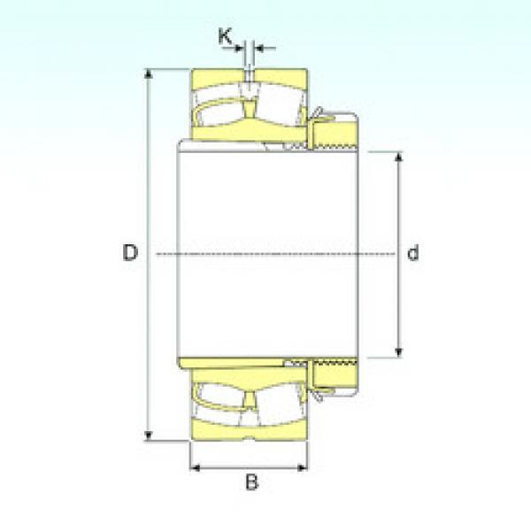 Spherical Roller Bearings 23034 EKW33+H3034 ISB #1 image