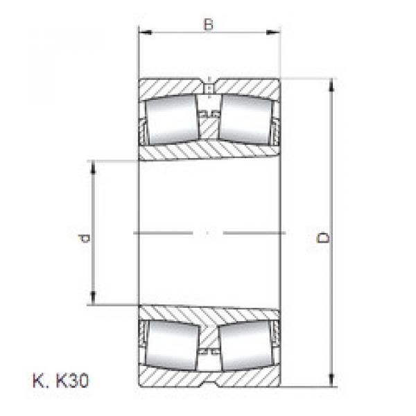 Spherical Roller Bearings 21308 KW33 ISO #1 image