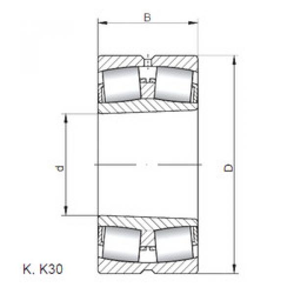 Spherical Roller Bearings 23030 KCW33 CX #1 image