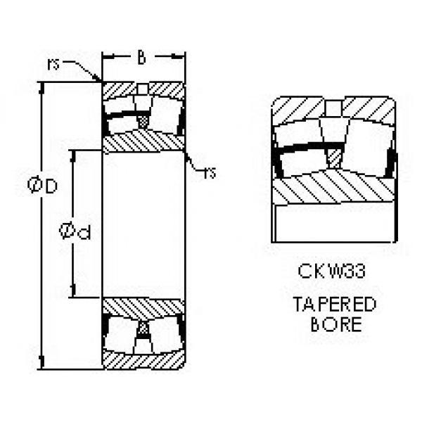 Spherical Roller Bearings 22228CKW33 AST #1 image