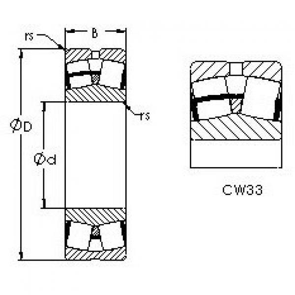 Spherical Roller Bearings 23028CW33 AST #1 image
