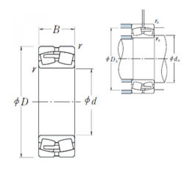 Spherical Roller Bearings 22348CAE4 NSK #1 image