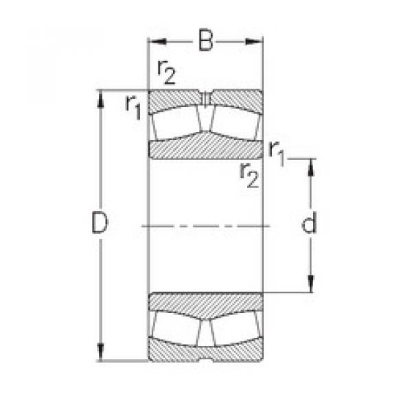 Spherical Roller Bearings 23030-MB-W33 NKE #1 image