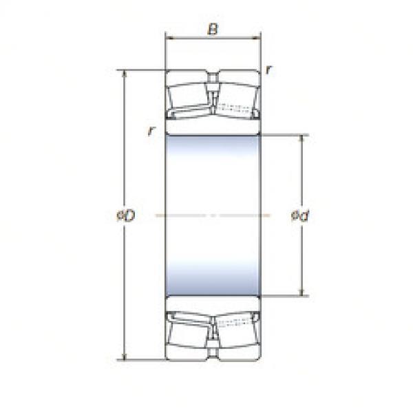 Spherical Roller Bearings 22210SWREAg2E4 NSK #1 image