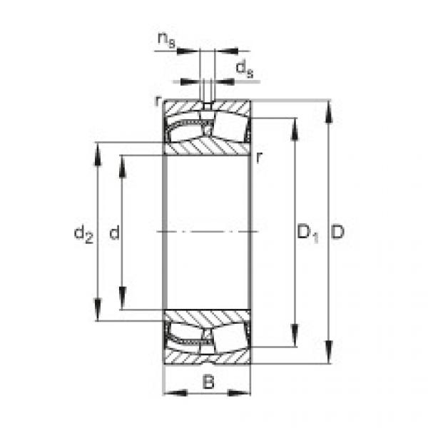 Spherical Roller Bearings 22244-E1 FAG #1 image