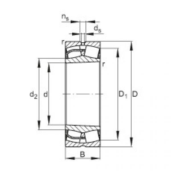 Spherical Roller Bearings 23156-E1-K FAG #1 image